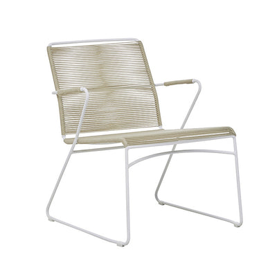 Marina Sleigh Occasional Chair in Beige