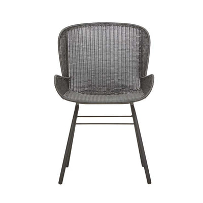 Globewest Mauritius Closed Weave Dining Arm Chair in Licorice