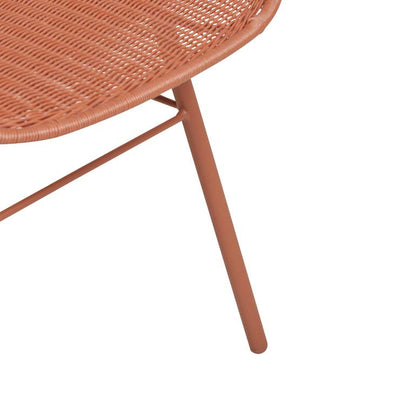 Globewest Mauritius Closed Weave Dining Arm Chair in Terracotta