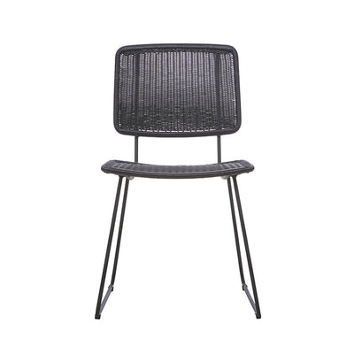 Globewest Mauritius Open Dining Chair in Liquorice