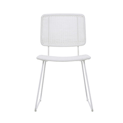 Globewest Mauritius Open Dining Chair in White
