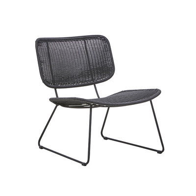 Globewest Mauritius Open Occasional Chair in Liquorice
