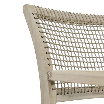 Globewest Mauritius Rope Arm Chair in Aged Teak