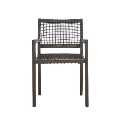Globewest Mauritius Rope Arm Chair in Ebony