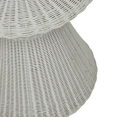 Globewest Mauritius Woven Side Table in Light Grey