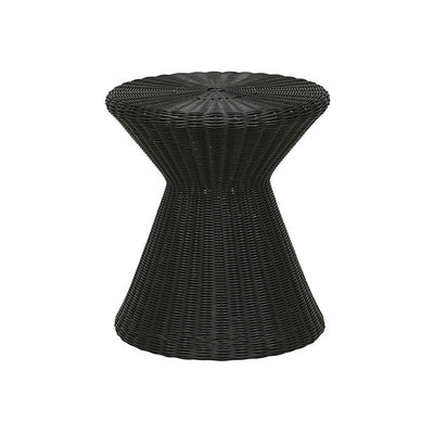 Globewest Mauritius Woven Side Table in Liquorice
