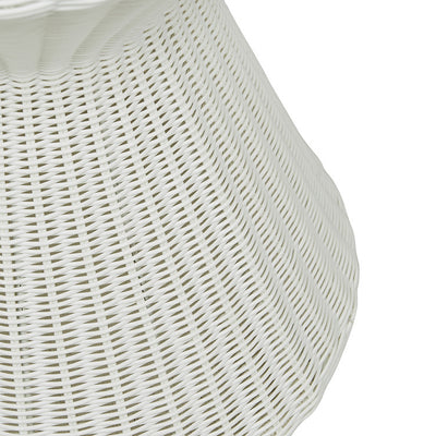 Globewest Mauritius Woven Side Table in White