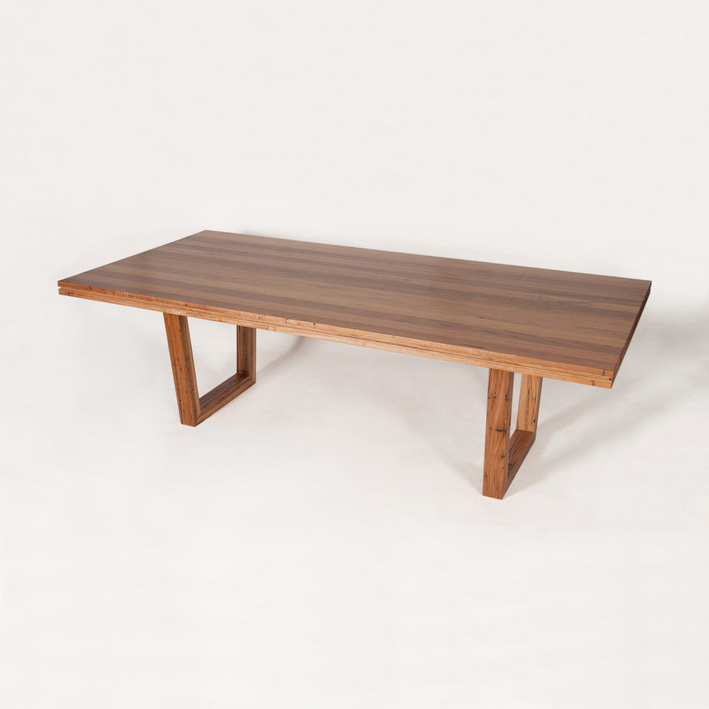 Metalico U Base Dining Table - Timber