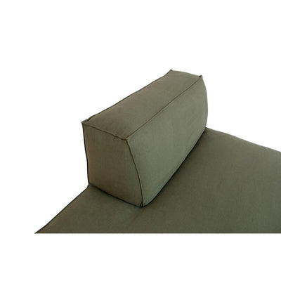 Miller Left Open End Sofa in Army Green