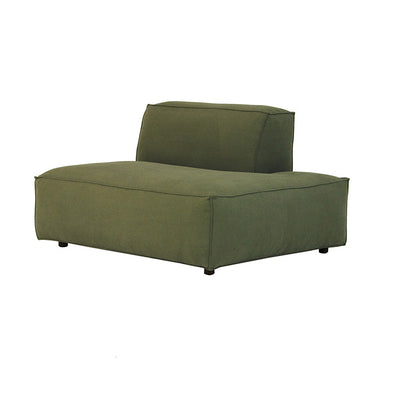 Miller Right Open End Sofa in Army Green