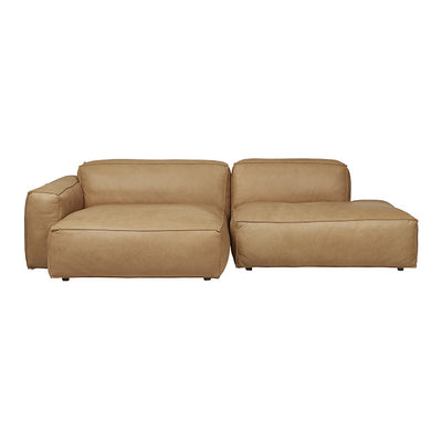 Miller Right Open End Sofa in Camel