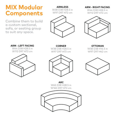 Gus Mix Modular Sofa Components