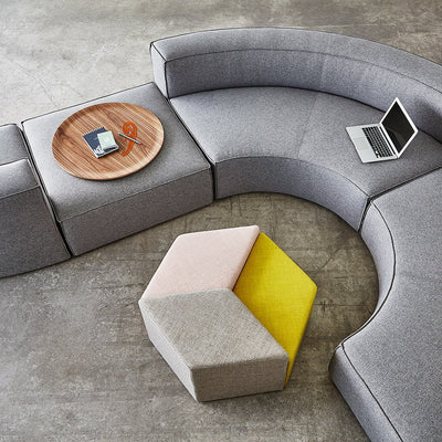 Gus Modern Furniture Mix Modular Ottoman - Parliament Stone