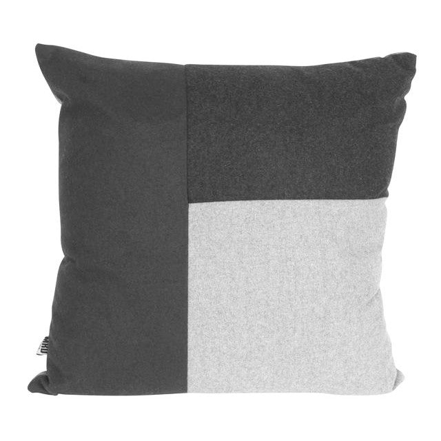 Mondrian Block Square Cushion Grey