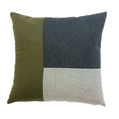 Mondrian Block Square Cushion Khaki