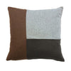 Mondrian Block Square Cushion Tan