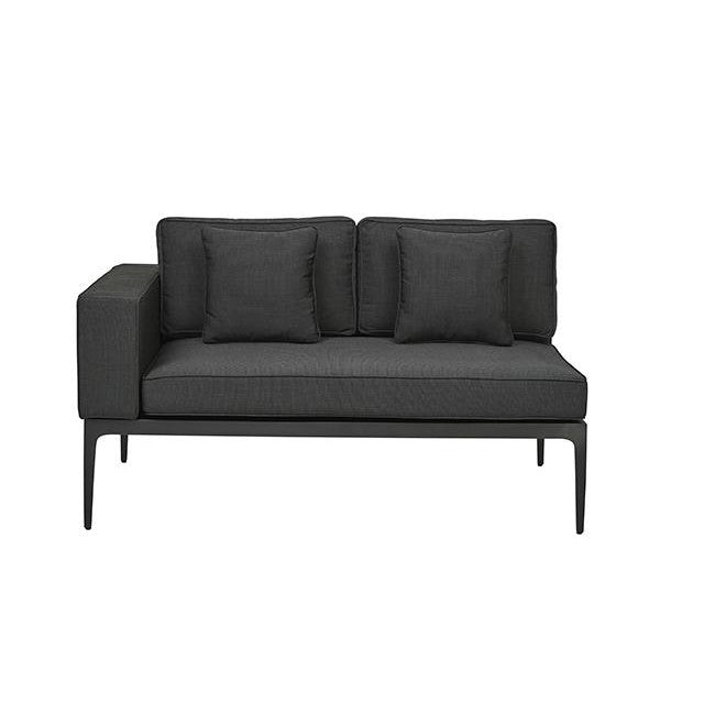Montego 2 Seat Left Arm Sofa in Anthracite/Charcoal