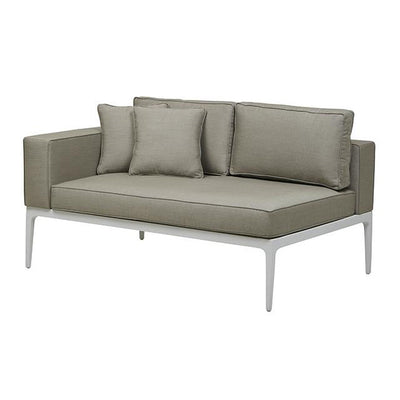 Montego 2 Seat Left Arm Sofa in White/Pale Grey