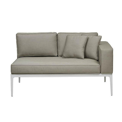 Montego 2 Seat Right Arm Sofa in White Pale Grey