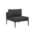 Montego Centre Sofa in Anthracite/Charcoal