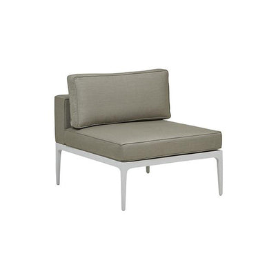 Montego Centre Sofa in White/Pale Grey