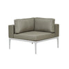 Montego Corner Sofa White/Pale Grey