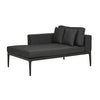 Montego Left Chaise in Anthracite/Charcoal Fabric