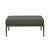 Montego Outdoor Ottoman in Anthracite/Charcoal Fabric