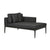 Montego Right Chaise Anthracite/Grey
