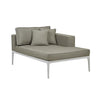 Montego Right Chaise White/Pale Grey Fabric