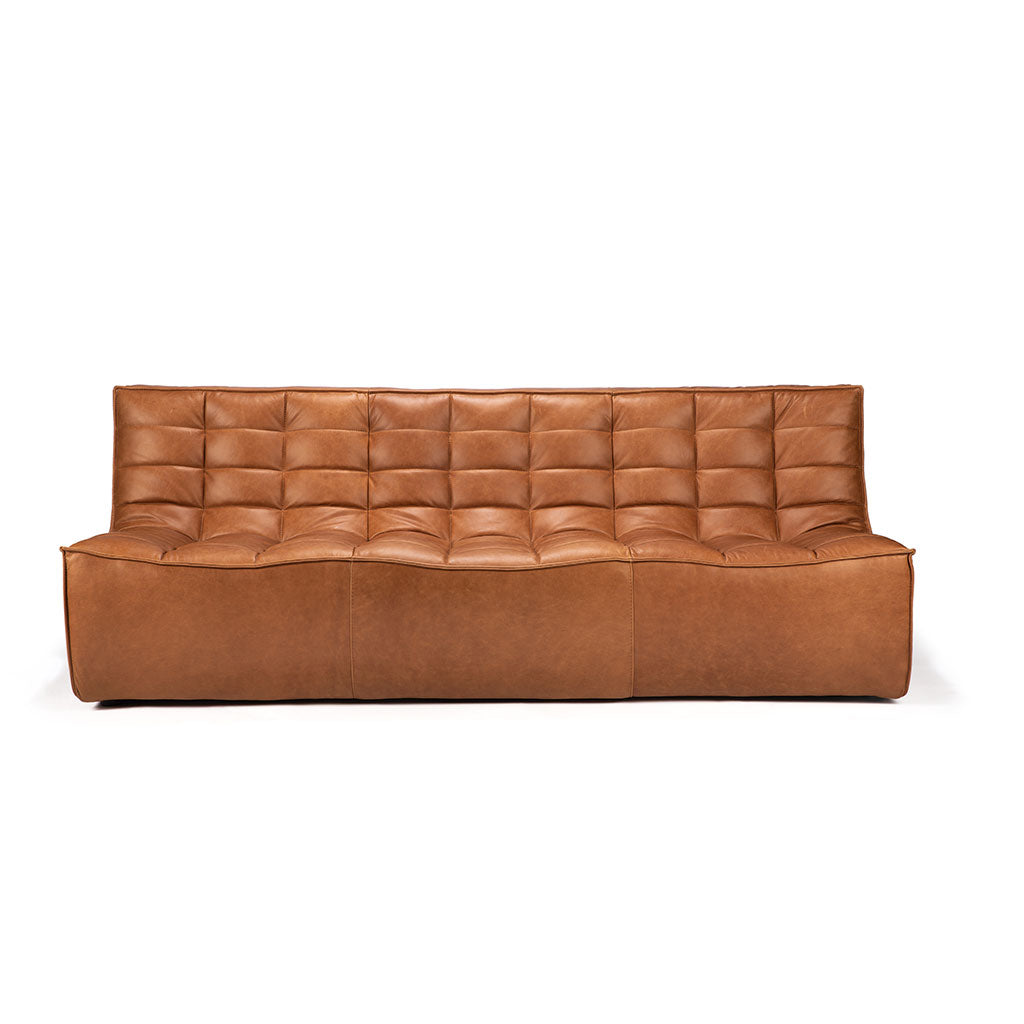 Ethnicraft N701 3 Seater Sofa - Old Saddle Leather
