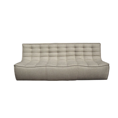 Ethnicraft N701 3 Seater Sofa in Dark Beige