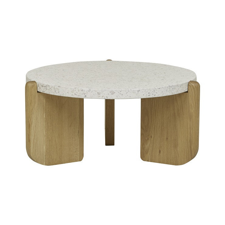 Native Round Coffee Table - Small in Nougat Terrazzo