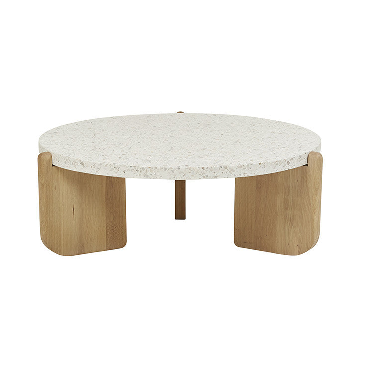 Native Round Coffee Table in Nougat
