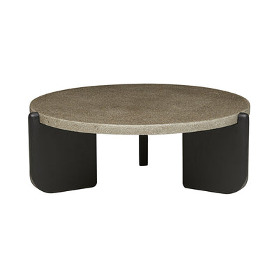 Native Round Coffee Table in Warm Grey