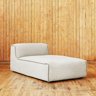 Nexus Modular Armless Chaise in Thea Moonstone