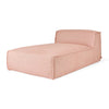 Nexus Modular Armless Chaise in Thea Seasalt