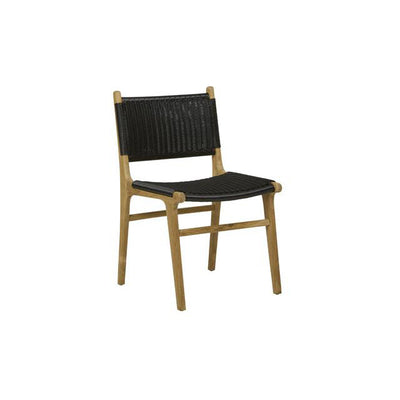 Noosa Open Dining Chair in Black Weave