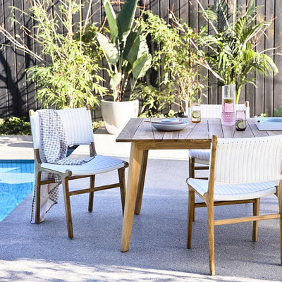 Noosa Open Dining Chair in White