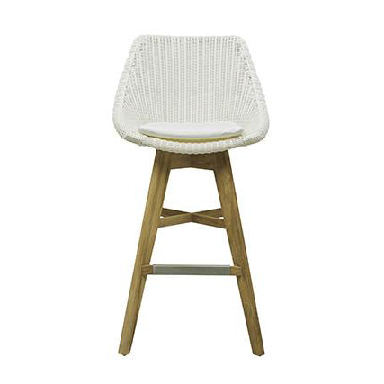 Noosa Backrest Barstool in White