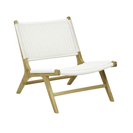 Noosa Open Occasional Chair in White