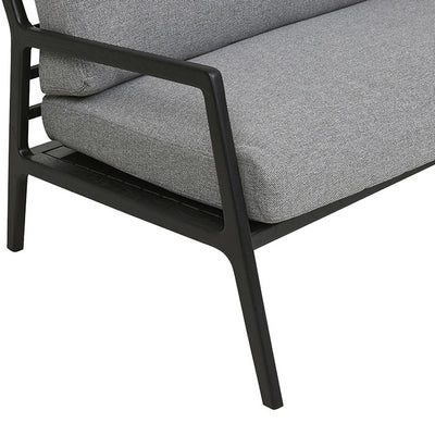 Nysse 2 Seater Sofa in Sparrow/Black