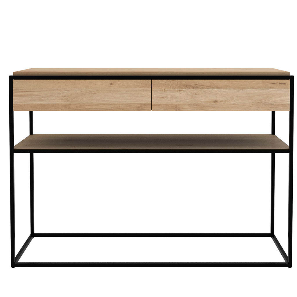 Oak Monolit Console in Natural Oak