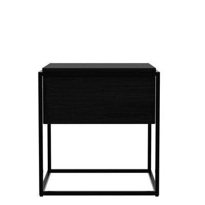 Oak Monolit Side Table - Medium in Black Oak