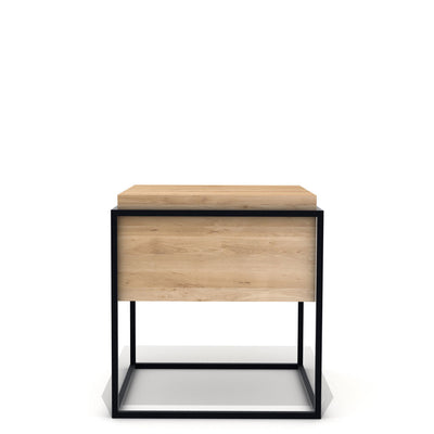 Oak Monolit Side Table - Medium in Natural Oak & Black