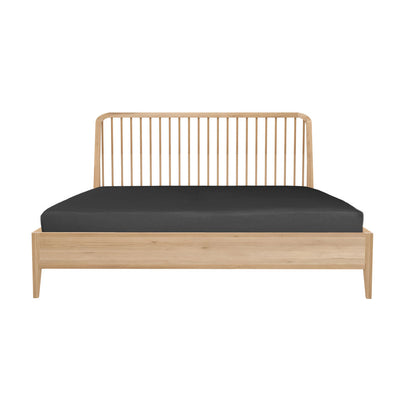 Ethnicraft Oak Spindle Queen Bed