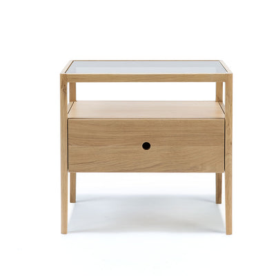 Ethnicraft Oak Spindle Bedside Table