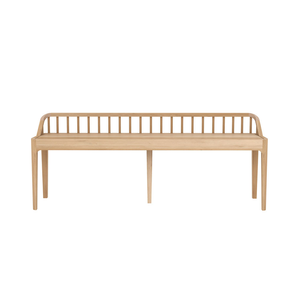 Oak Spindle Bench