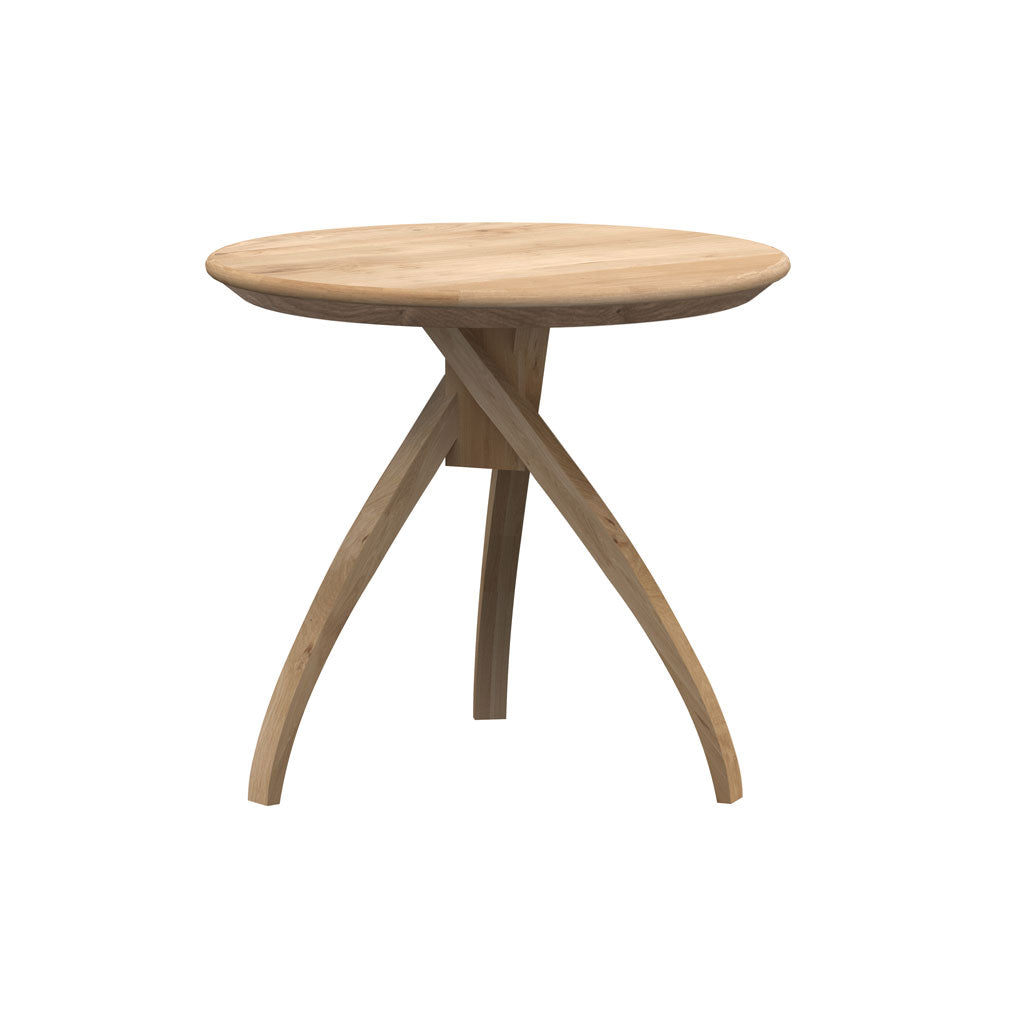 Ethnicraft Oak Twist Side Table - Small