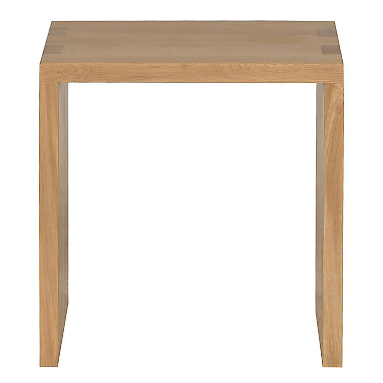 Oak Cube Open Side Table
